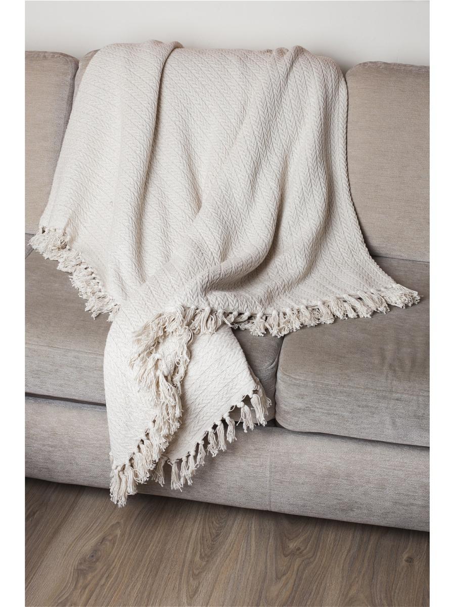 Плед  Клевер  Бежевый р. 200х240 - Текстиль для дома артикул: 26349