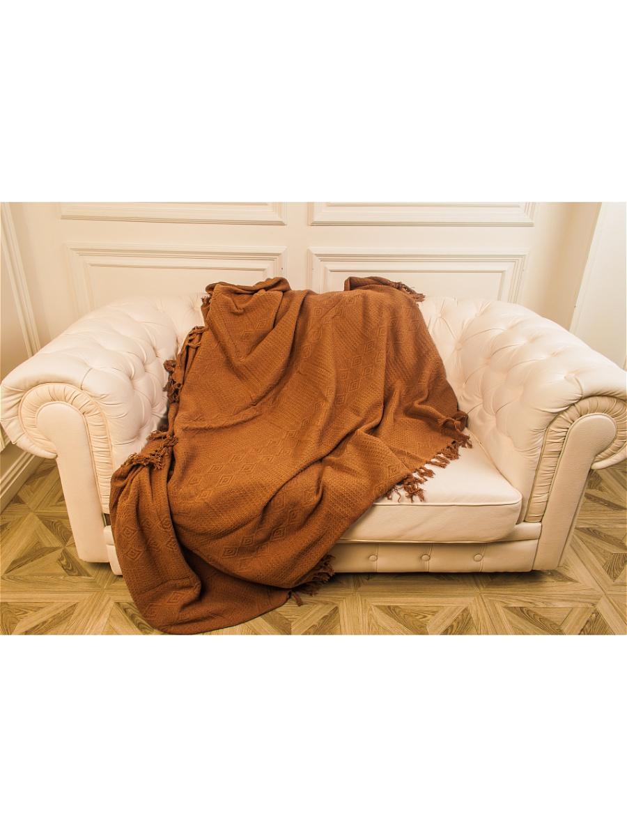 Плед Лотос Коричневый р. 160х220Покрывала<br>Плотность ткани:380 г/кв. м<br><br>Тип: Плед<br>Размер: 160х220<br>Материал: Вязаное полотно