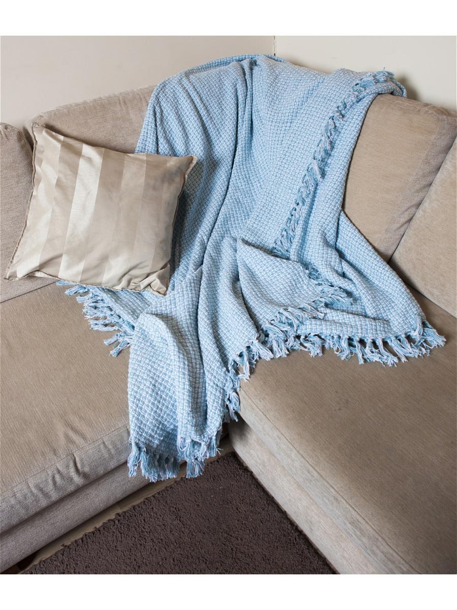 Плед  Волна  Бело-голубой р. 200х240 - Текстиль для дома артикул: 26361