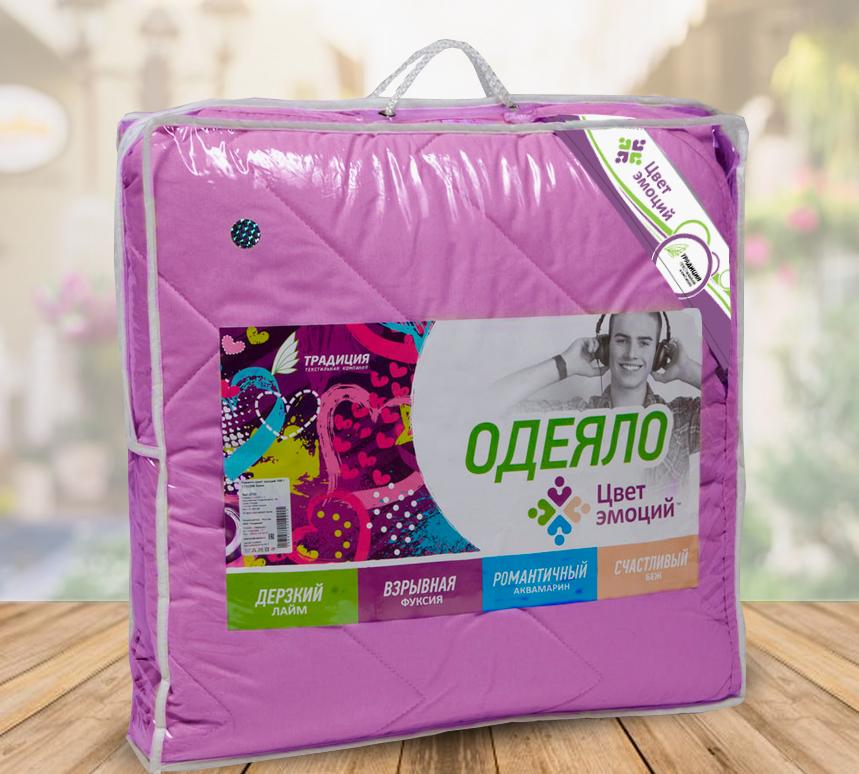 Одеяло  Цвет эмоций  Фуксия р. 172х205 - Текстиль для дома артикул: 26774