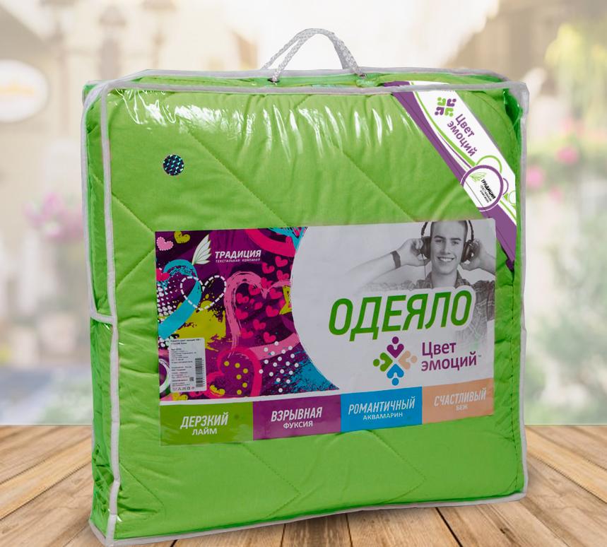 Одеяло  Цвет эмоций  Лайм р. 140х205 - Текстиль для дома артикул: 26770