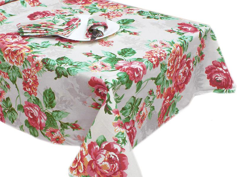 Скатерть  Домислава  Красный р. 150х220 - Текстиль для дома артикул: 26792