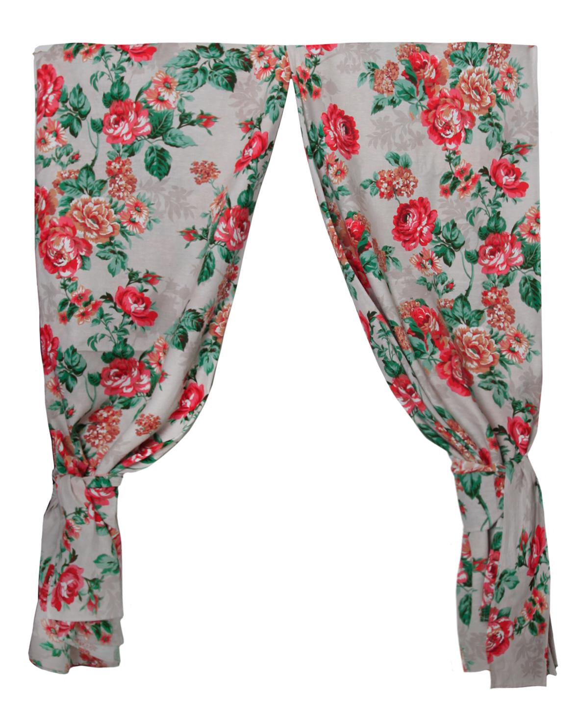 Шторы  Домислава  Красный р. 150х180 - Текстиль для дома артикул: 26796