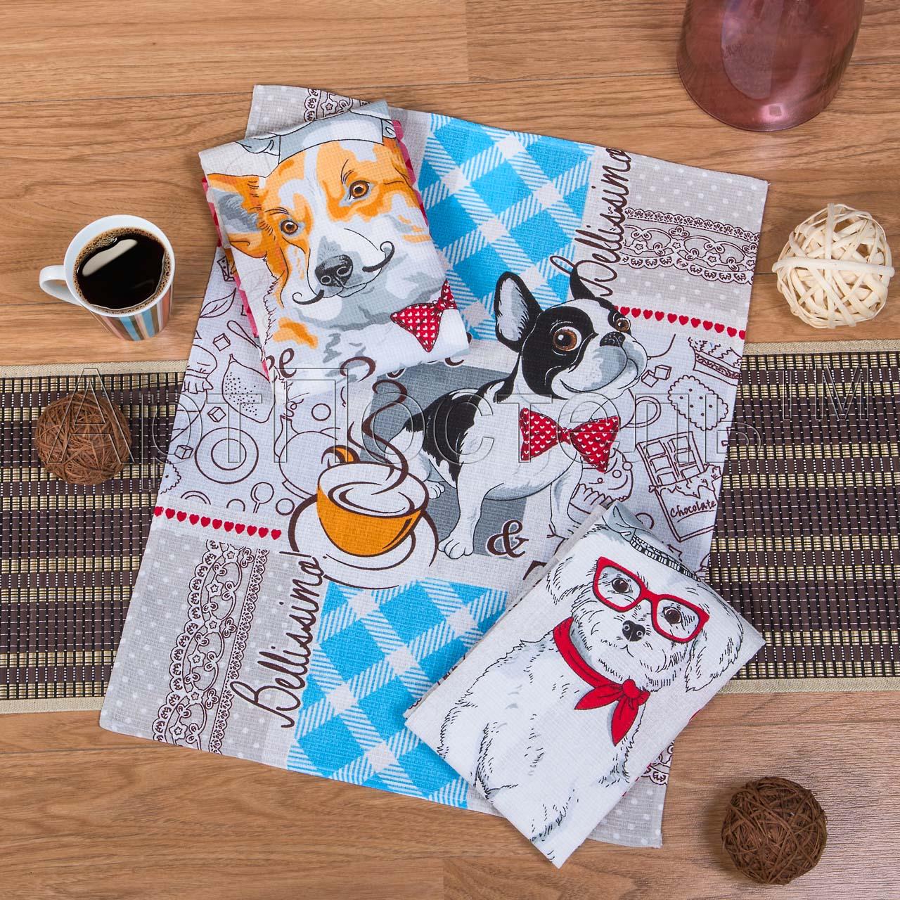 Набор полотенец Гурман р. 45х60Вафельные полотенца<br>Плотность:160 г/кв. м<br><br>Тип: Набор полотенец<br>Размер: 45х60<br>Материал: Вафельное полотно