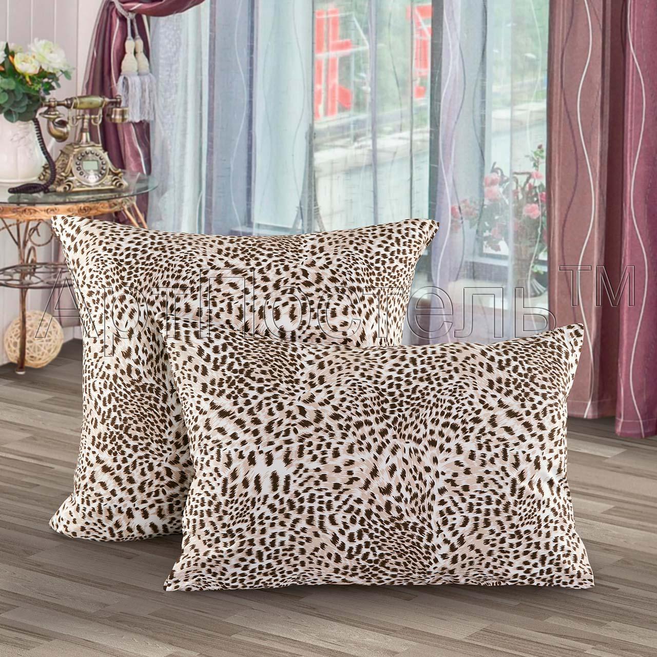 Наволочки Леопард р. 70х70Наволочки<br>Плотность ткани: 140 г/кв. М <br>Количество: 2 шт.<br><br>Тип: Наволочки<br>Размер: 70х70<br>Материал: Кулирка
