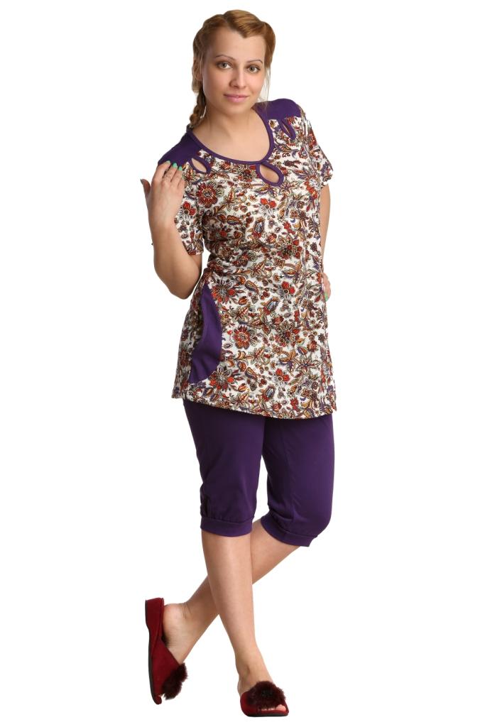 Жен. костюм арт. 16-0126 фиолетовый р. 54