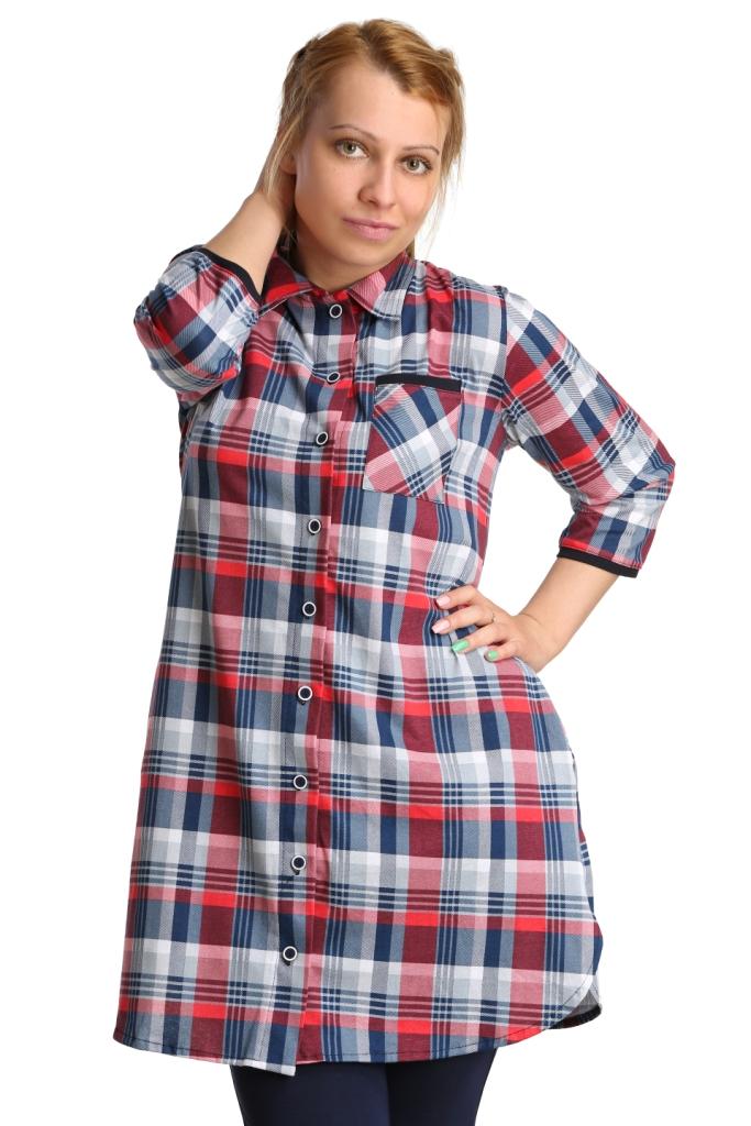 Жен. туника арт. 16-0143 Индиго р. 58 - Женская одежда артикул: 27528