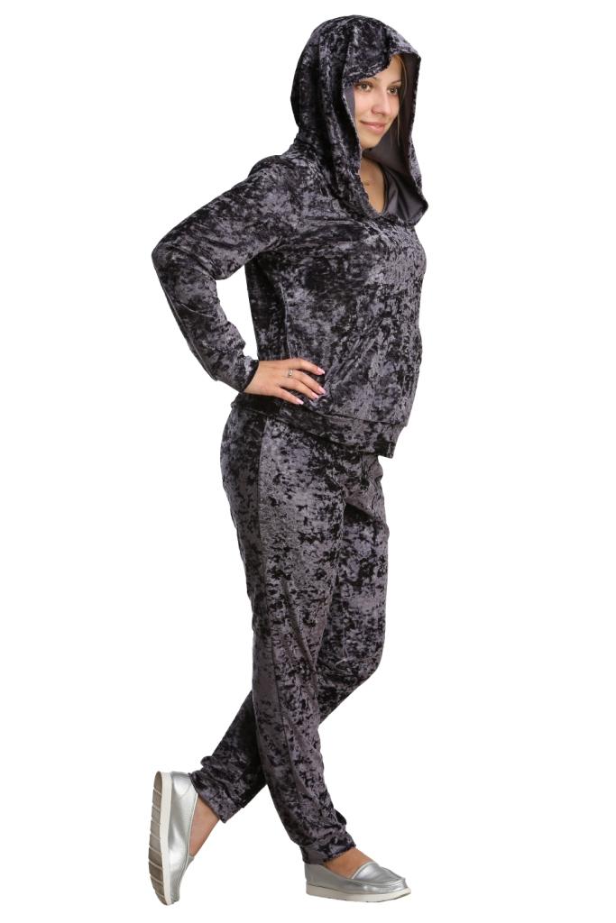 Жен. костюм арт. 16-0217 темно-серый р. 44