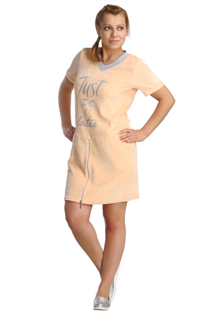 Жен. платье арт. 16-0211 персиковый р.