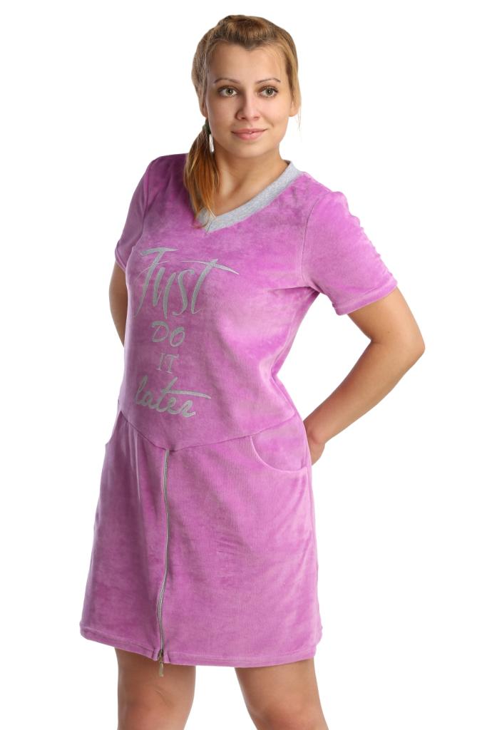 Жен. платье арт. 16-0211 Сиреневый р. 48Платья<br>Обхват груди: 96 см <br>Обхват талии: 77 см <br>Обхват бедер: 104 см <br>Длина по спинке: 86 см <br>Рост: 164-170 см<br><br>Тип: Жен. платье<br>Размер: 48<br>Материал: Велюр