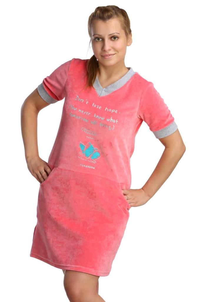 Жен. платье арт. 16-0212 Коралловый р. 52 - Женская одежда артикул: 27599