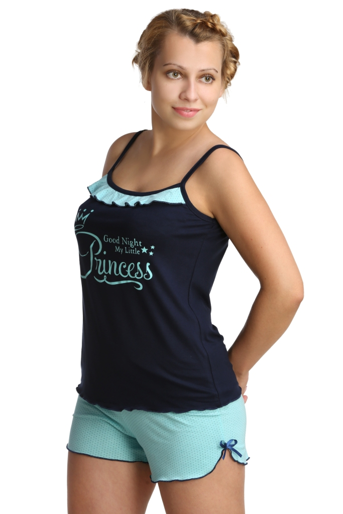 Жен. пижама арт. 16-0210 Ментоловый р. 44 - Женская одежда артикул: 27571