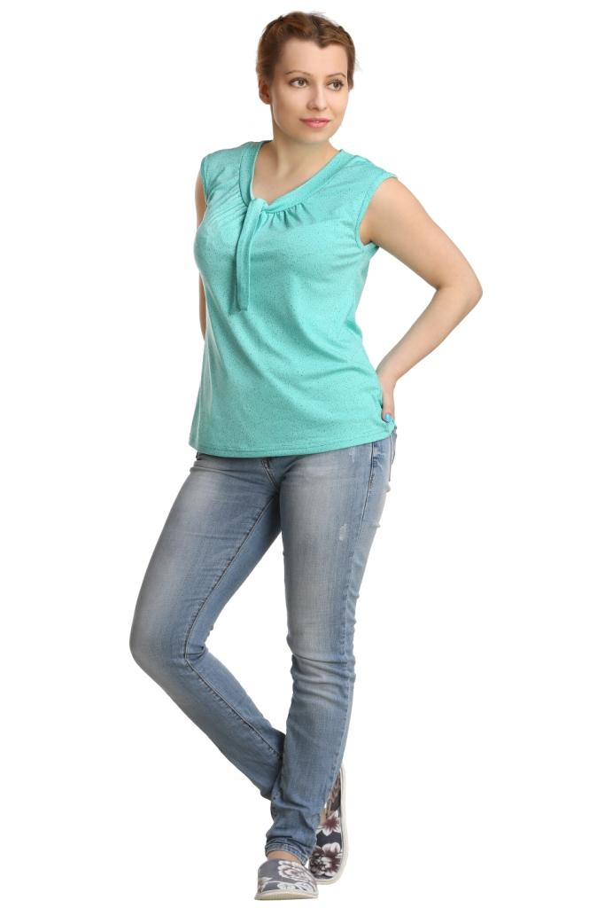 Жен. блуза арт. 16-0222 зеленый р.