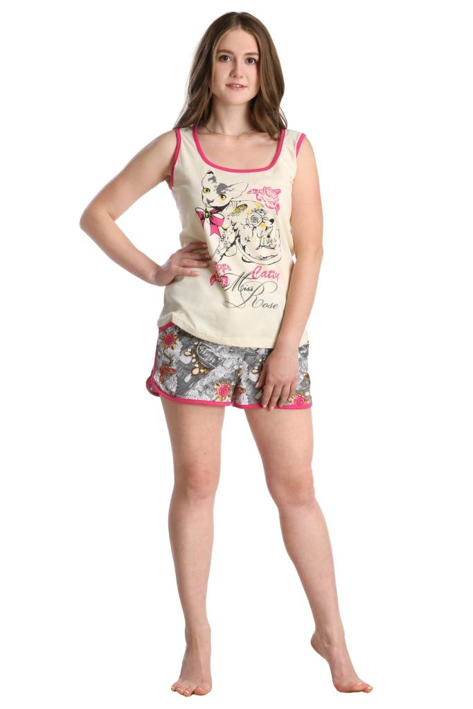 Жен. костюм арт. 16-0232 малиновый р. 48