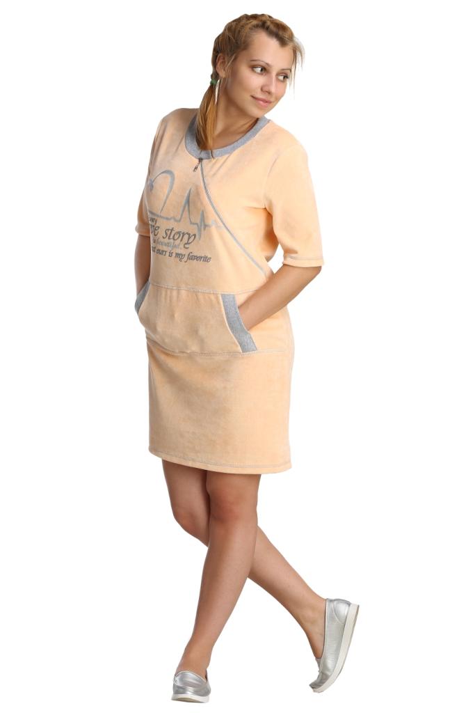 Жен. платье арт. 16-0237 персиковый р. 52
