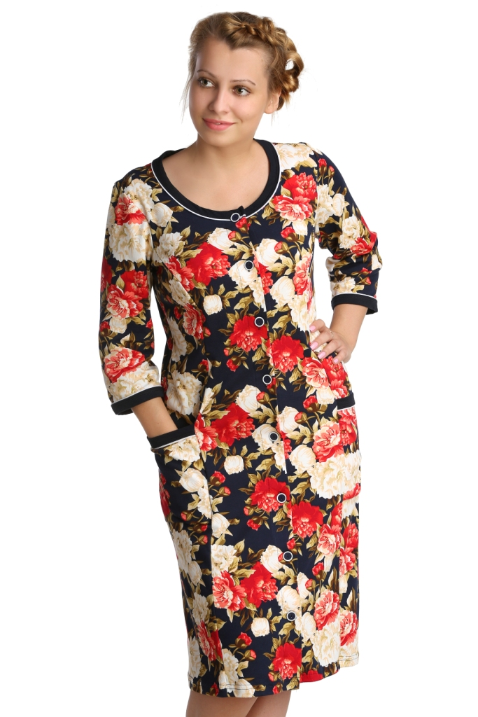 Жен. халат арт. 16-0235 р. 58 - Женская одежда артикул: 28025