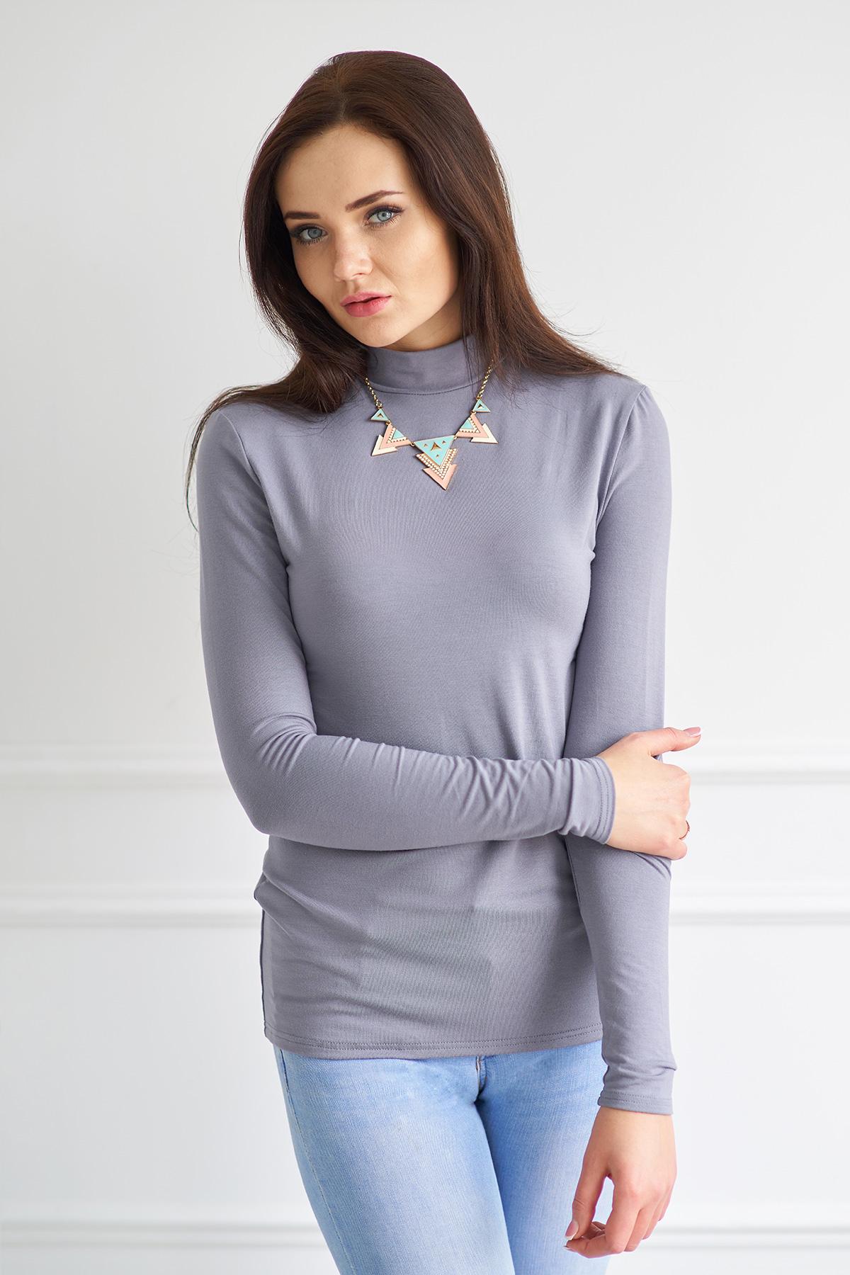 Жен. водолазка арт. 19-0012 Серый р. 54 - Женская одежда артикул: 28548