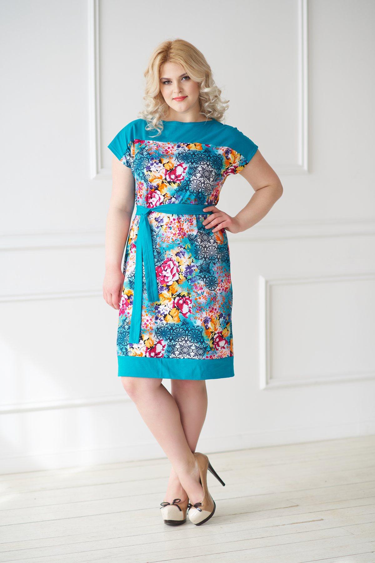 Жен. платье арт. 19-0045 Изумрудный р. 48Платья<br>Факт. ОГ:92 см<br>Факт. ОТ:96 см<br>Факт. ОБ:100 см<br>Длина по спинке:97 см<br><br>Тип: Жен. платье<br>Размер: 48<br>Материал: Трикотаж