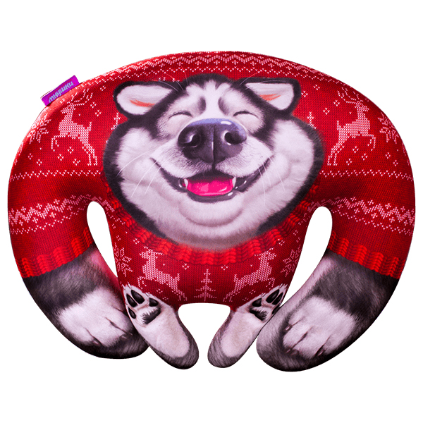 Игрушка-подушка Аляска Новогдняя Красный р. 40х31Подушки антистресс<br><br><br>Тип: Игрушка-подушка<br>Размер: 40х31<br>Материал: Трикотаж