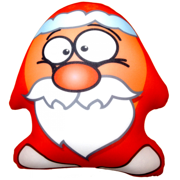 Игрушка-подушка Дед Мороз Красный р. 22х23Подушки антистресс<br><br><br>Тип: Игрушка-подушка<br>Размер: 22х23<br>Материал: Трикотаж