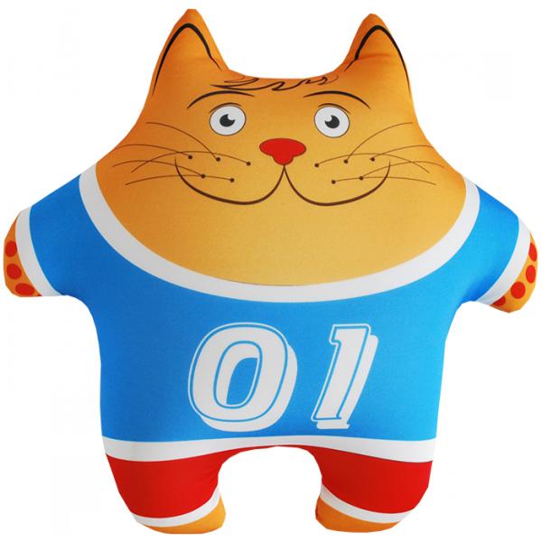 Игрушка-подушка Кот Спортсмен р. 35х35 оранжевый кот подушка игрушка антистресс кот спортсмен