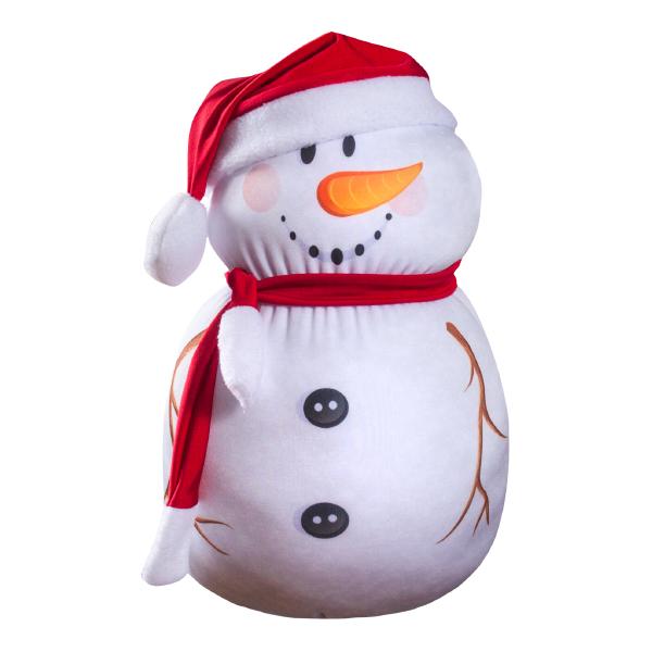 Игрушка-подушка Мистер Снеговик р. 30х19Распродажа товаров<br><br><br>Тип: Игрушка-подушка<br>Размер: 30х19<br>Материал: Трикотаж