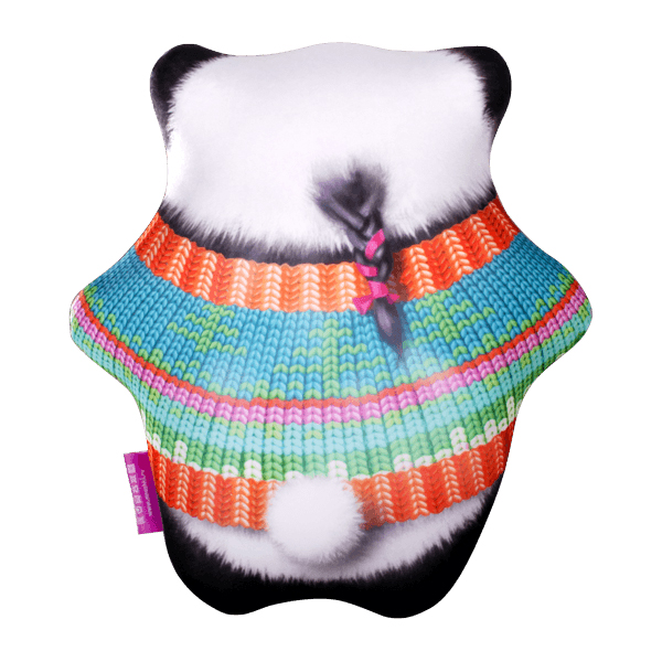Игрушка-подушка панда сладкоежка оранжевый