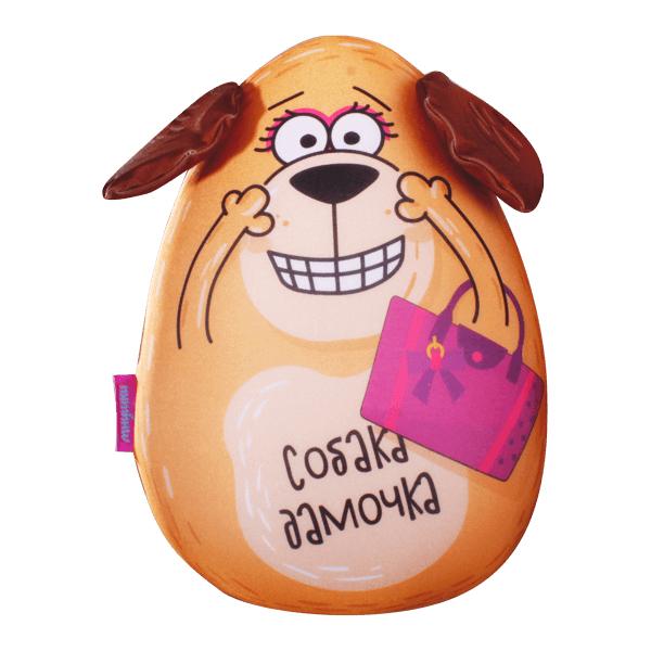Игрушка-подушка Собака Дамочка р. 30х21.