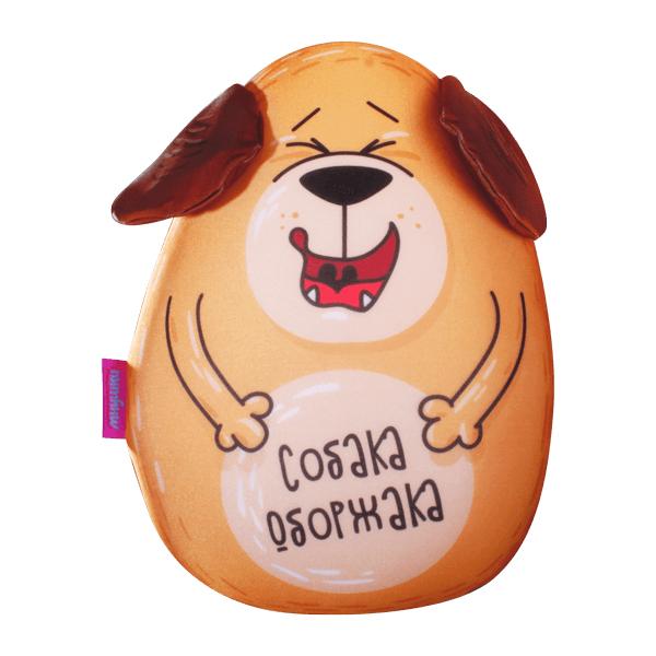 Игрушка-подушка Собака Оборжака р. 30х21Подушки антистресс<br><br><br>Тип: Игрушка-подушка<br>Размер: 30х21<br>Материал: Трикотаж