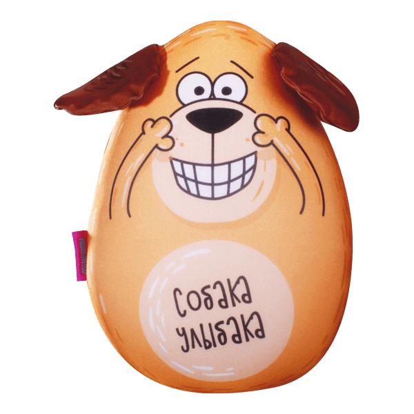 Игрушка-подушка Собака Улыбака р. 30х21Подушки антистресс<br><br><br>Тип: Игрушка-подушка<br>Размер: 30х21<br>Материал: Трикотаж