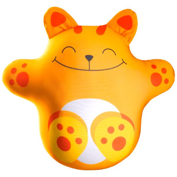 Игрушка-подушка Волшебный котик Оранжевый р. 33х26Подушки антистресс<br>Наполнитель: Гранулы вспененного полистирола <br>Состав наполнителя: 100% пэ<br><br>Тип: Игрушка-подушка<br>Размер: 33х26<br>Материал: Трикотаж