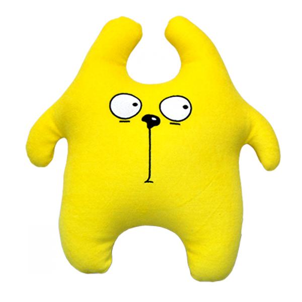 Игрушка-подушка Заяц Хрустик Желтый р. 45х45 sima land антистрессовая игрушка заяц хрустик 04 цвет желтый