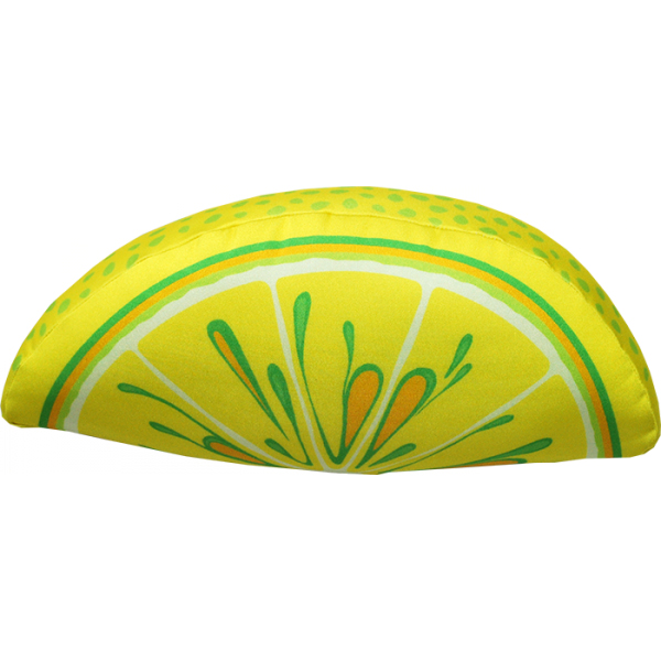 Игрушка-подушка Долька лимона р. 28х13х9Подушки антистресс<br>Наполнитель: Гранулы вспененного полистирола <br>Состав наполнителя: 100% пэ<br><br>Тип: Игрушка-подушка<br>Размер: 28х13х9<br>Материал: Трикотаж