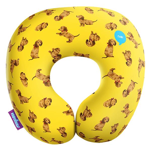 Игрушка-подушка  Щенята  Желтый р. 29х29 - Текстиль для дома артикул: 29137