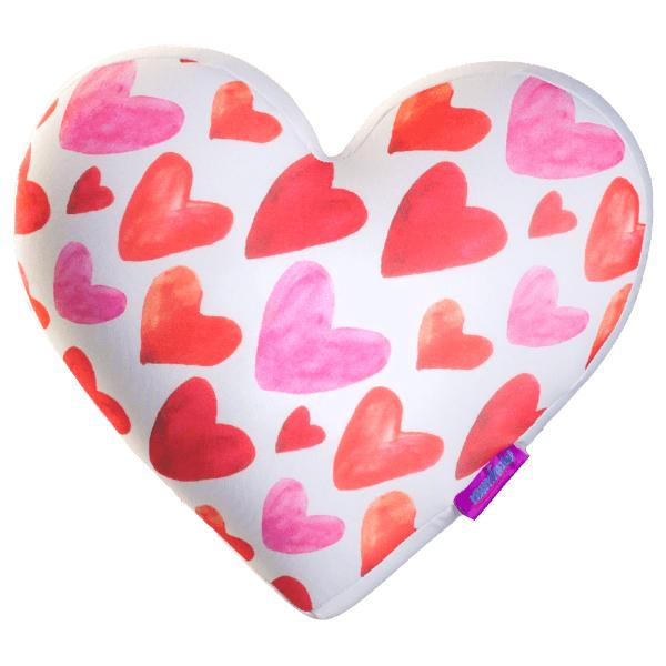 Игрушка-подушка  Сердечки Big  Белый р. 28х25х10 - Текстиль для дома артикул: 29126
