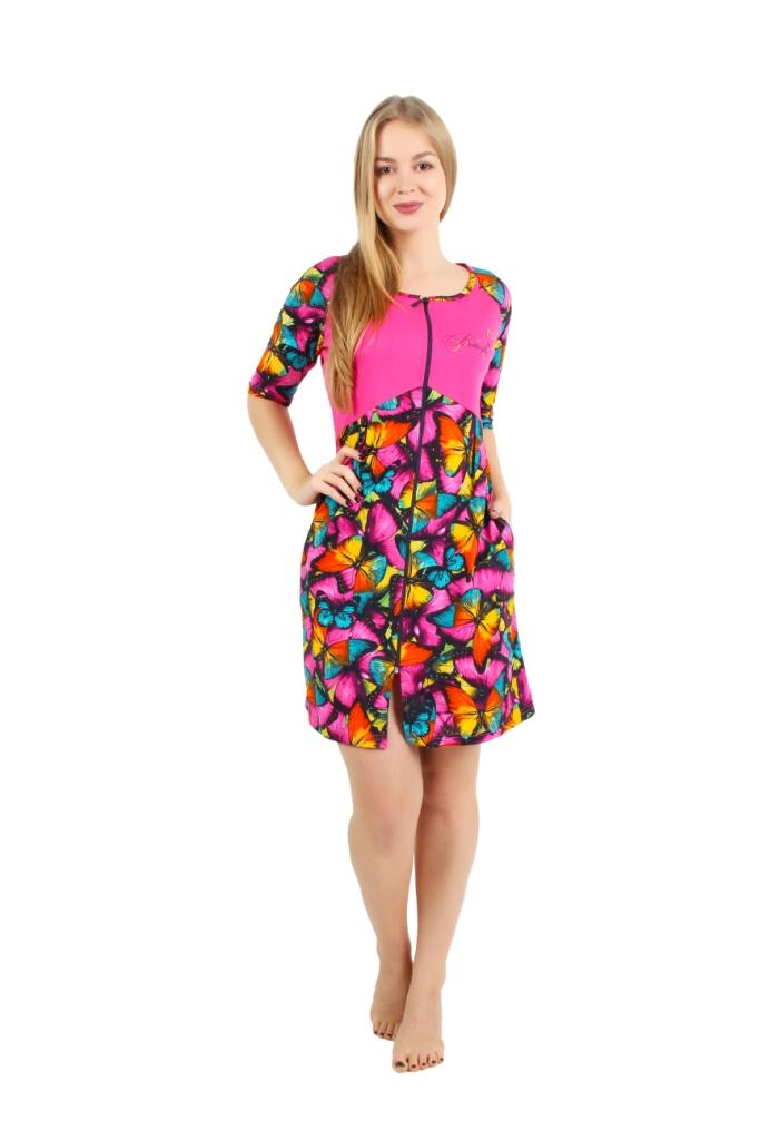 Жен. халат арт. 16-0247 Малиновый р. 48 жен платье арт 16 0099 малиновый р 48