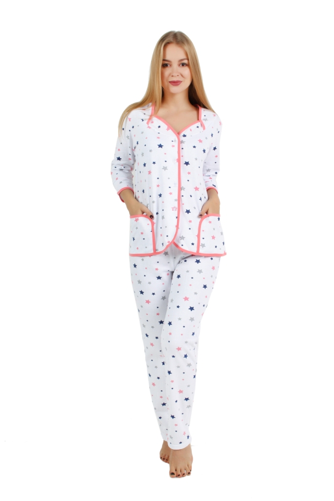 Жен. пижама арт. 16-0252 Красный р. 60 - Женская одежда артикул: 29261