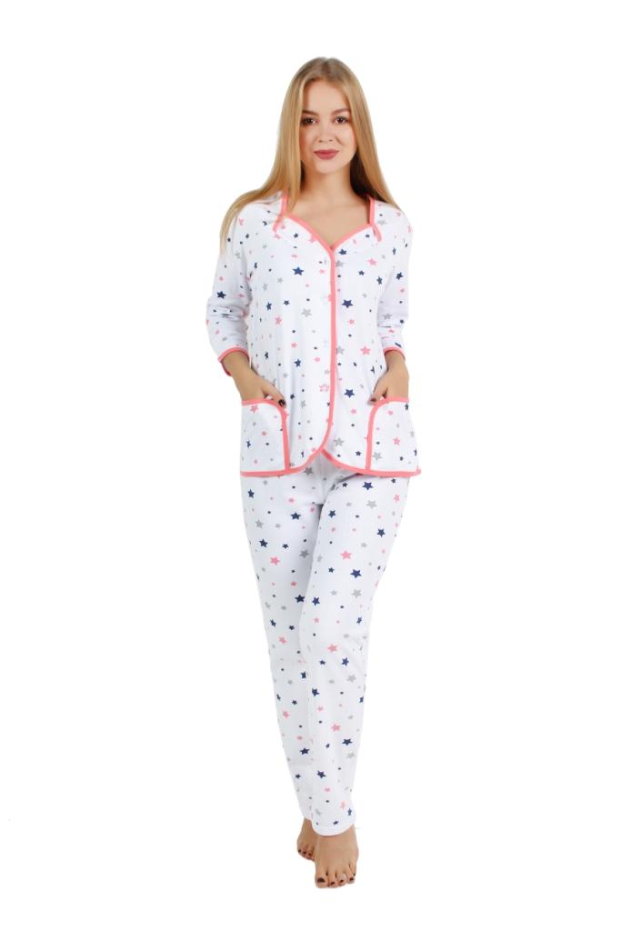 Жен. пижама арт. 16-0252 Красный р. 54