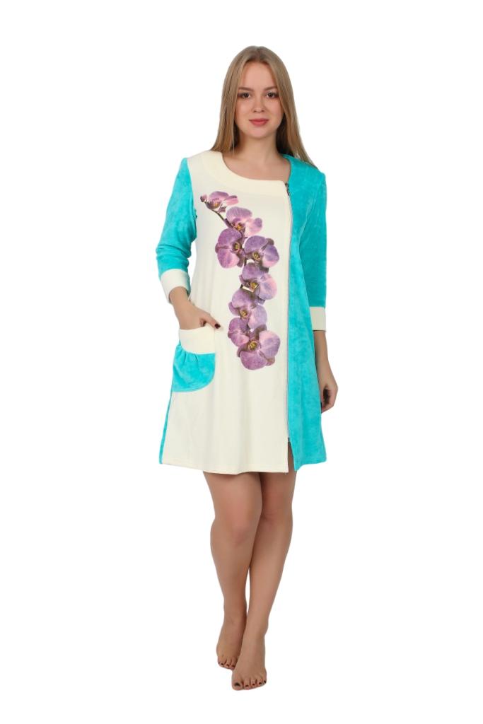Жен. халат арт. 16-0249 Ментол р. 56 - Женская одежда артикул: 29275