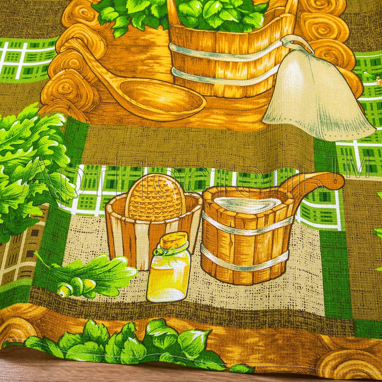Вафельное полотенце Банька р. 80х150Вафельные полотенца<br>Плотность: 160 г/кв. м<br><br>Тип: Вафельное полотенце<br>Размер: 80х150<br>Материал: Вафельное полотно