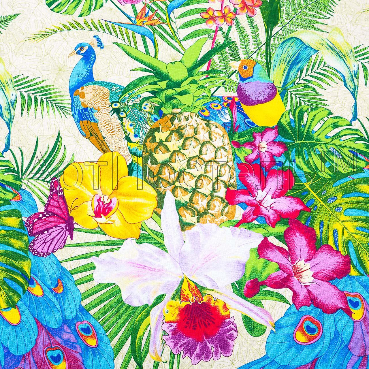 Вафельное полотенце Гавайи р. 100х150Вафельные полотенца<br>Плотность: 160 г/кв. м<br><br>Тип: Вафельное полотенце<br>Размер: 100х150<br>Материал: Вафельное полотно