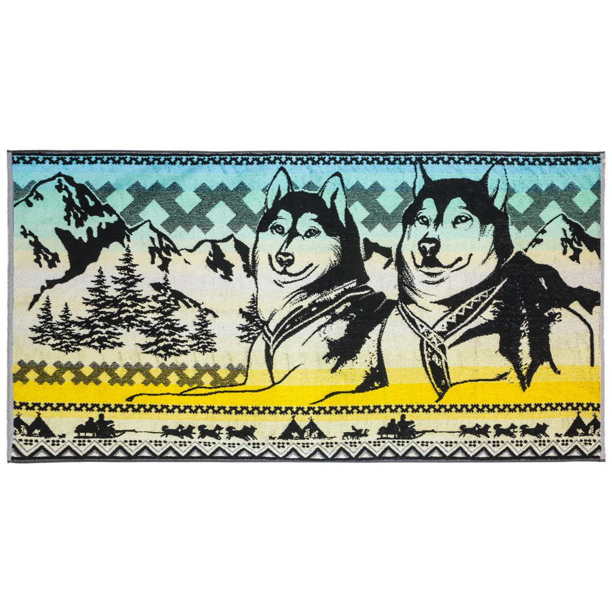 Полотенце Хаски р. 70х140Махровые полотенца<br>Плотность ткани: 420 г/кв. м<br><br>Тип: Полотенце<br>Размер: 70х140<br>Материал: Махра