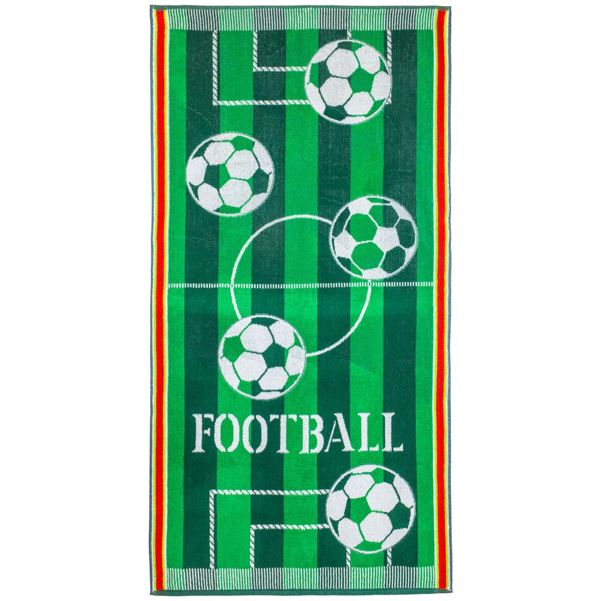 Полотенце Футбол р. 70х140Махровые полотенца<br>Плотность ткани: 420 г/кв. м<br><br>Тип: Полотенце<br>Размер: 70х140<br>Материал: Махра