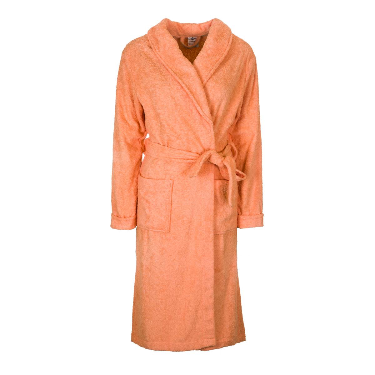 Жен. халат арт. 04-0090 Персиковый р. 50Распродажа женской одежды<br><br><br>Тип: Жен. халат<br>Размер: 50<br>Материал: Махра