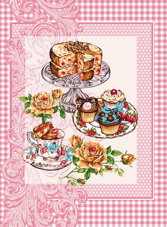 Вафельное полотенце Десерт р. 47х60Вафельные полотенца<br>Плотность ткани: 170 г/кв. м<br><br>Тип: Вафельное полотенце<br>Размер: 47х60<br>Материал: Вафельное полотно