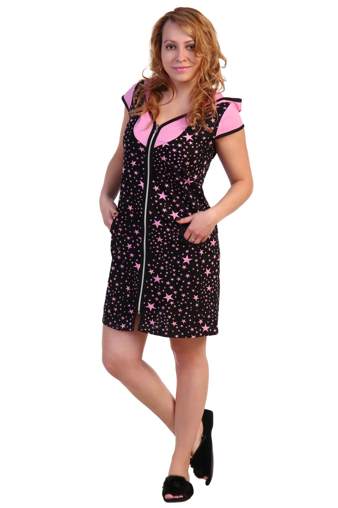 Жен. халат арт. 16-0278 Розовый р. 54 - Женская одежда артикул: 30425