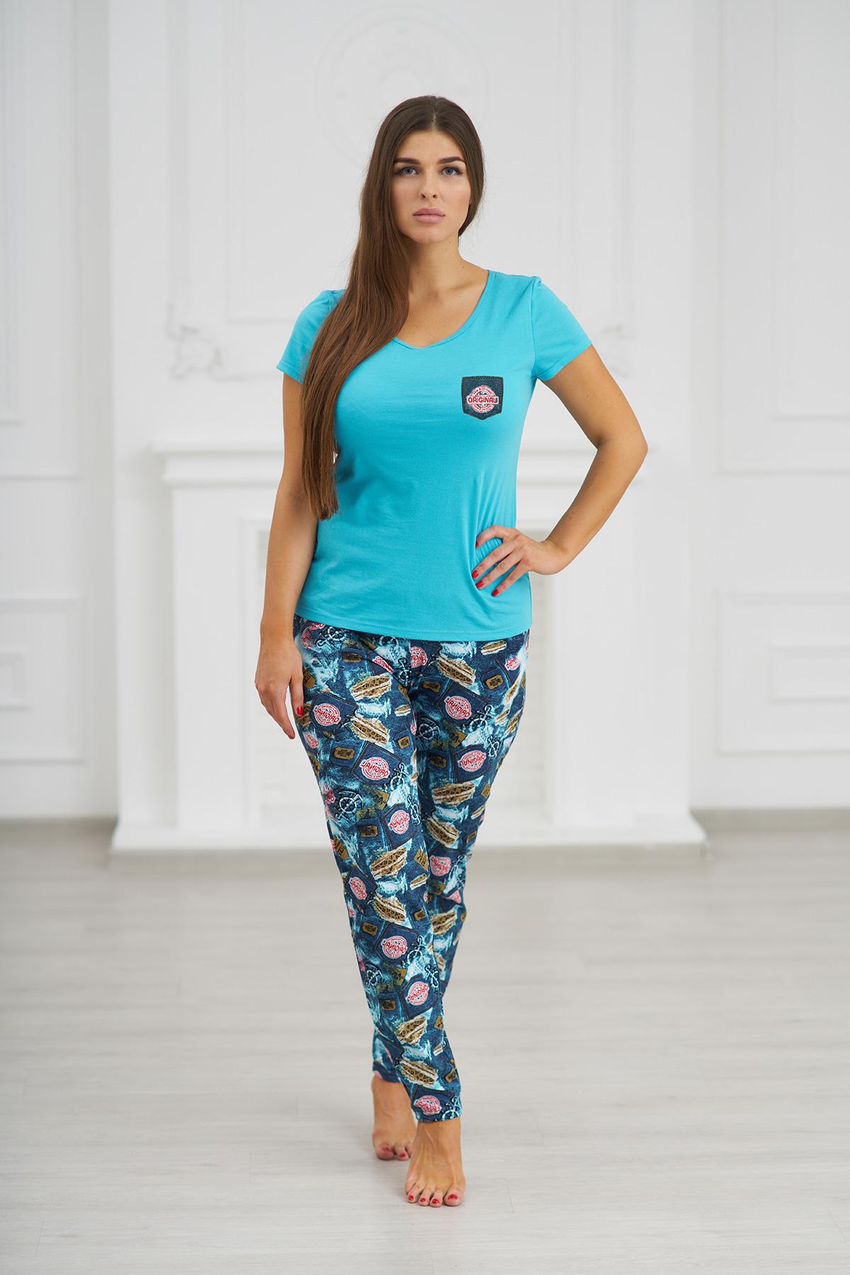 Жен. костюм  Красивый  Голубой р. 50 - Женская одежда артикул: 30562