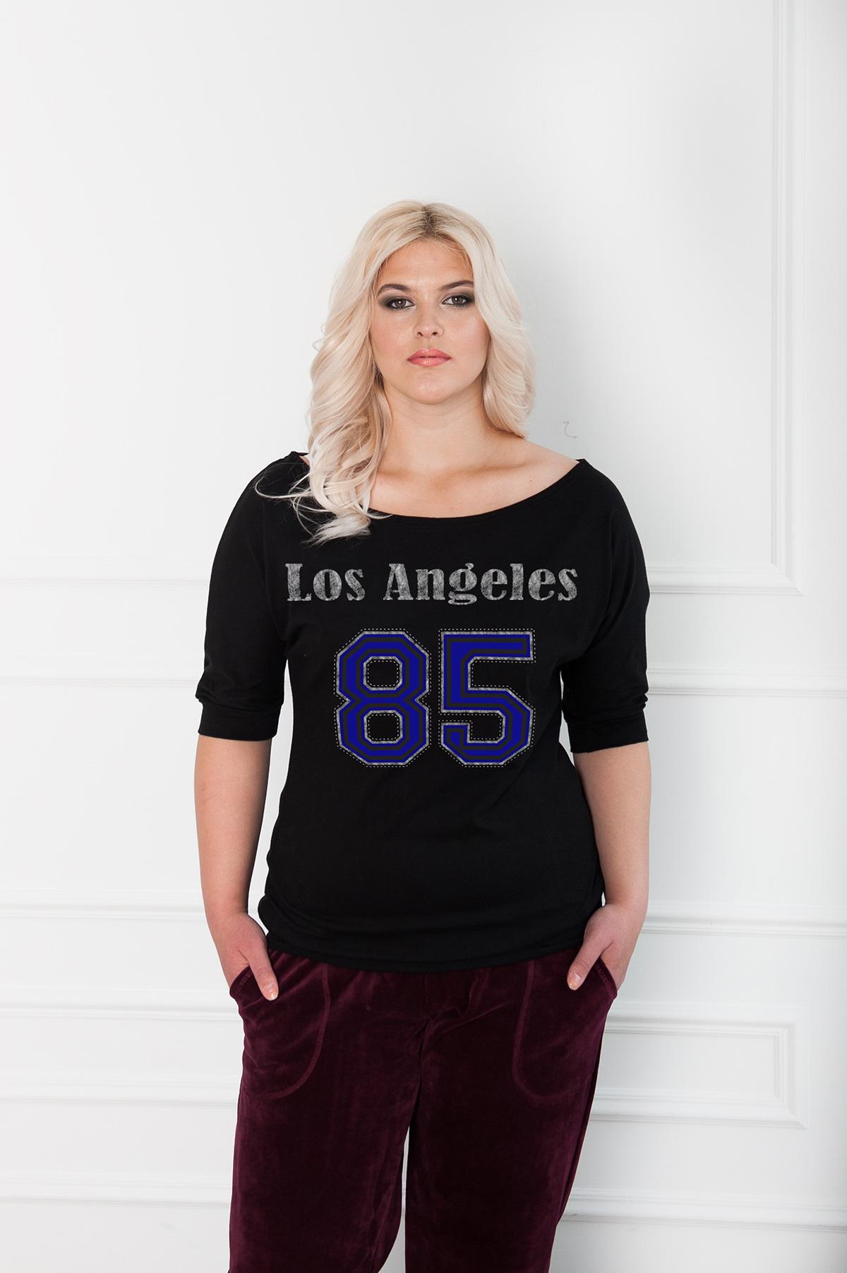 Жен. блуза  Модная  Черный р. 54 - Женская одежда артикул: 30533
