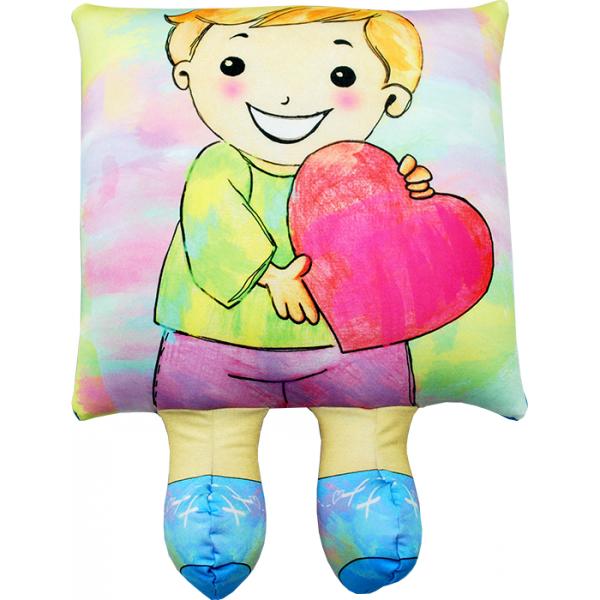 Игрушка-подушка Мальчик р. 42х30.