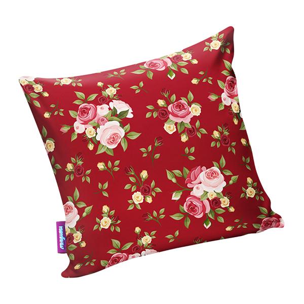 Подушка Нежные цветы Красный р. 29х29 подушка хенде хох р 29х29
